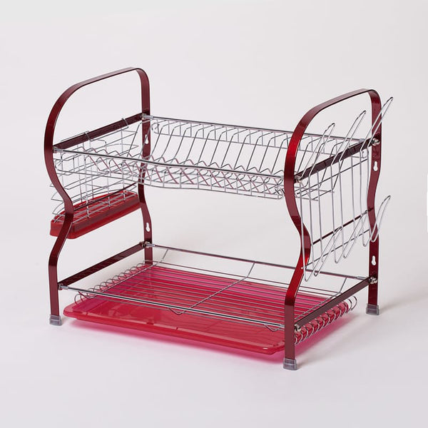 Two-Tier Dish Drainer - Red