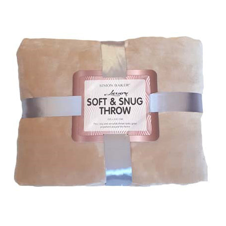 Plush Throw With Pillow Spray Beige