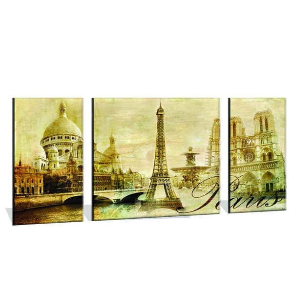 120CM x 60CM Monochrome Paris Canvas Print - iDealDirect