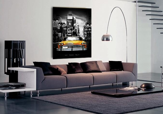 "50CM x 70CM ""New York Taxi No1"" Canvas Print - iDealDirect - 2"