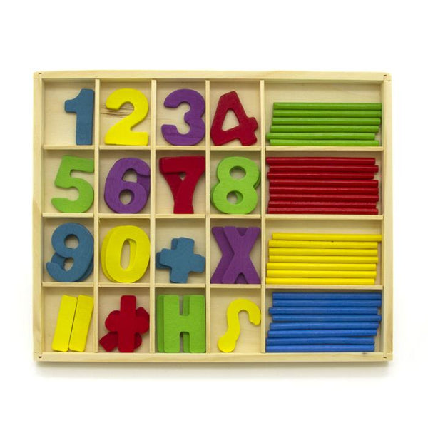 Wooden Numeric Computations Study Box Set