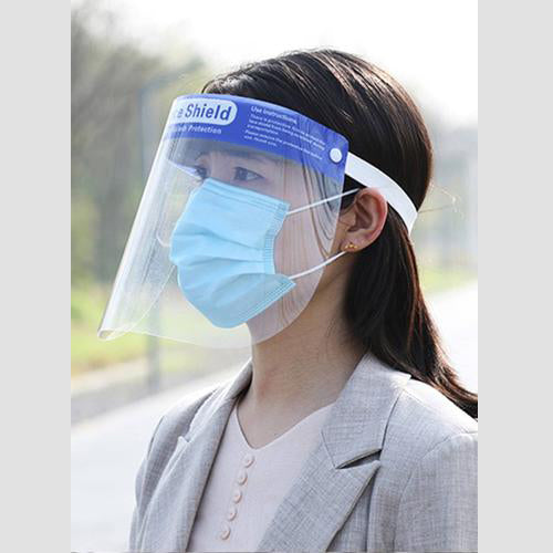 Face Shield With Plastic Cover