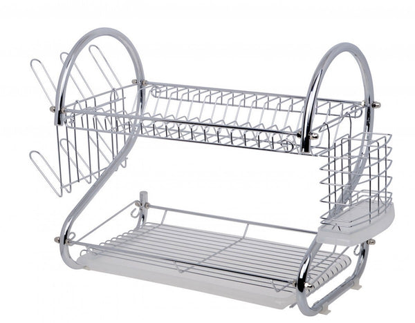 Fine Living Double Layer Dishrack - Chrome