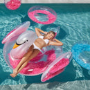 Pool Float - Feather Filled Swan - Pink