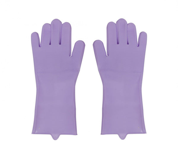 Silicone Kitchen Gloves - Purple
