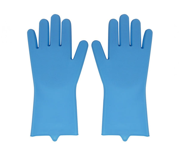 Silicone Kitchen Gloves - Blue