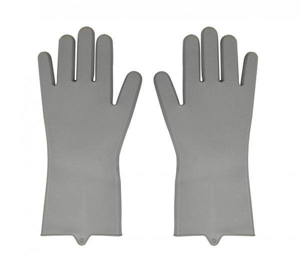 Silicone Kitchen Gloves - Grey