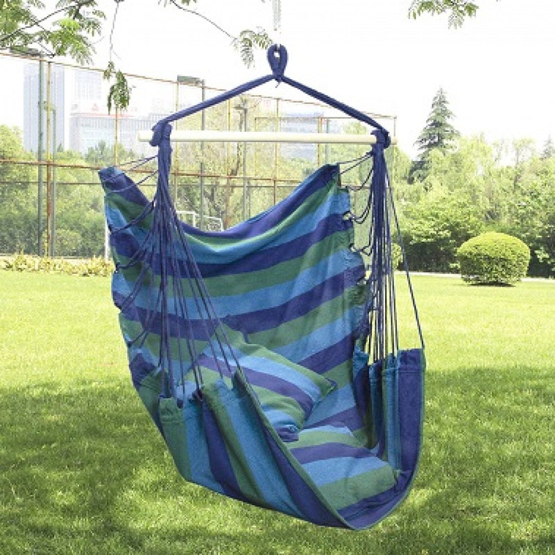 Element - Hammock Scoop Chair - Blue Stripes