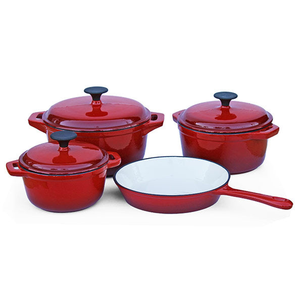 Cast Iron - 7 Piece - Double red