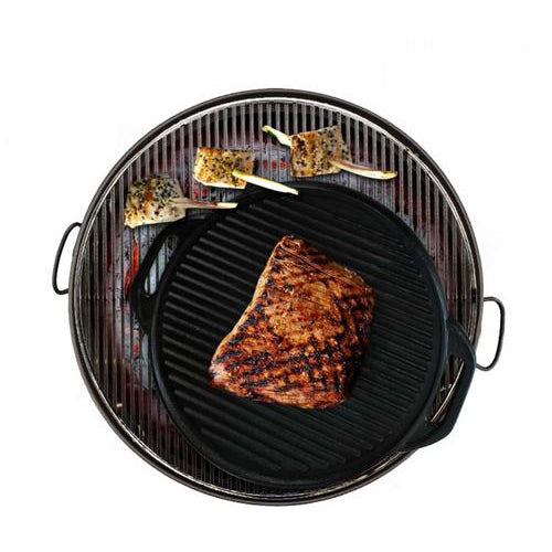 Fine Living Cast Iron BBQ Grill Tray - Round