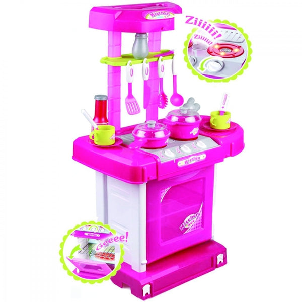 Jeronimo - Pack Up Play Kitchen Set - Pink