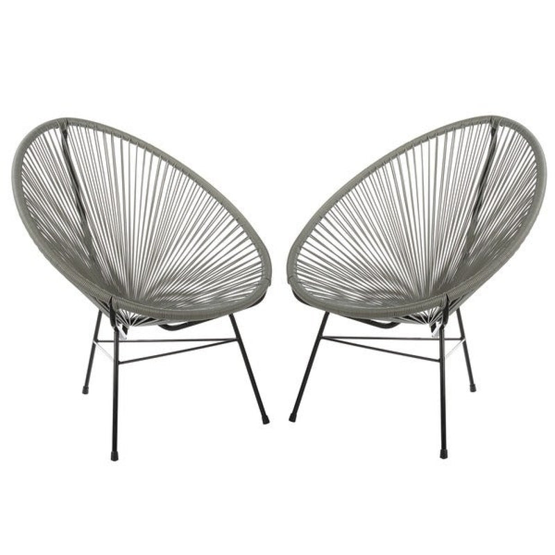 Plastic Rope Chair - grey
