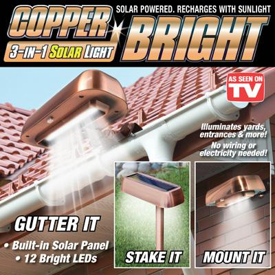 Copper 3-in-1 Solar Light