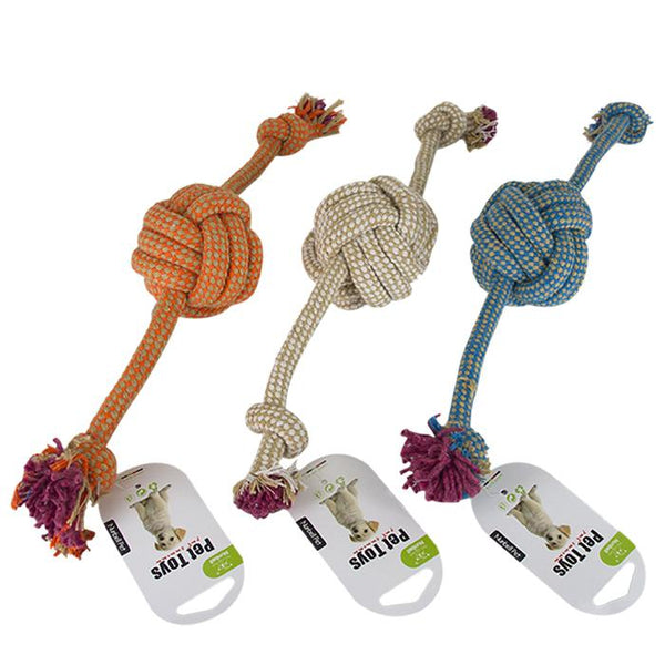 3 Pack Large Dogs Braided Bone Knot