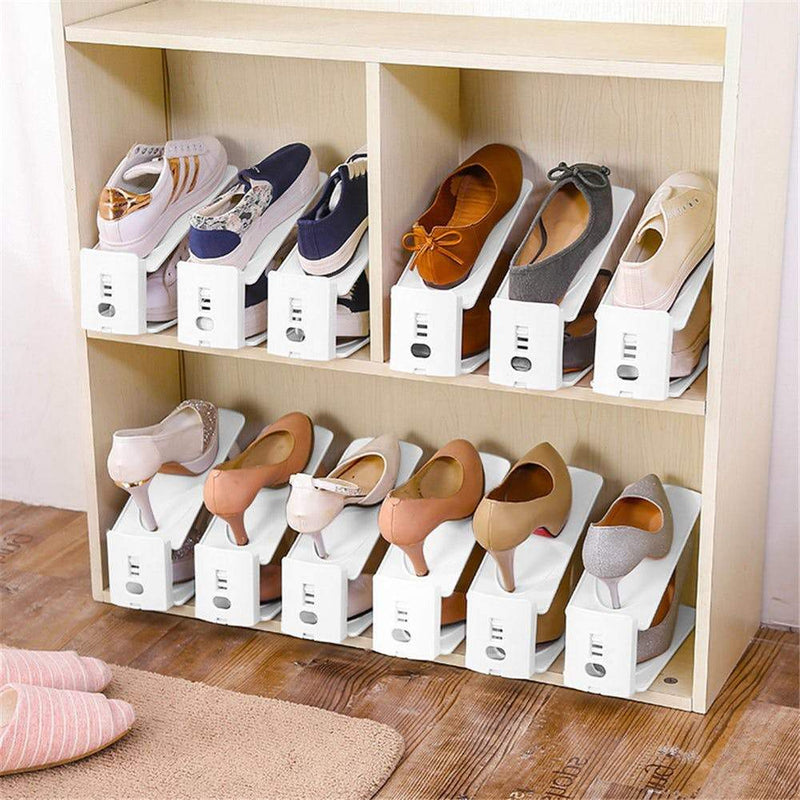 Pack Of 6 Plastic Shoe Organizers