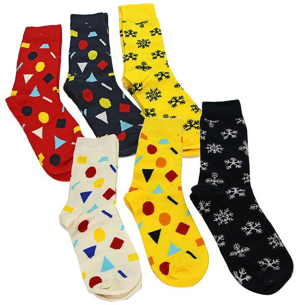 Pack Of 6 Socks SET 3 Assorted Designs