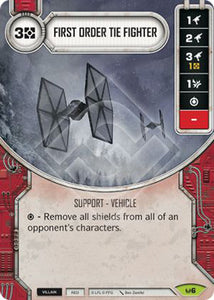 First Order TIE Fighter (AWK) Rare