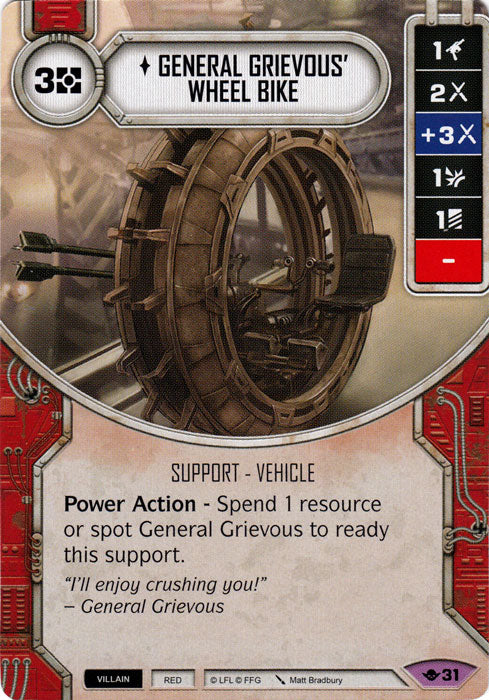 General Grievous' Wheel Bike (WotF) Legendary