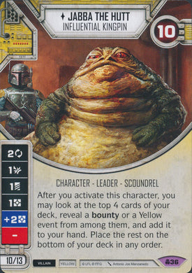 Jabba The Hutt - Influential Kingpin (CONV) Legendary