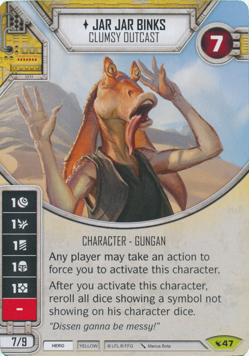 Jar Jar Binks - Clumsy Outcast (LEG) Rare
