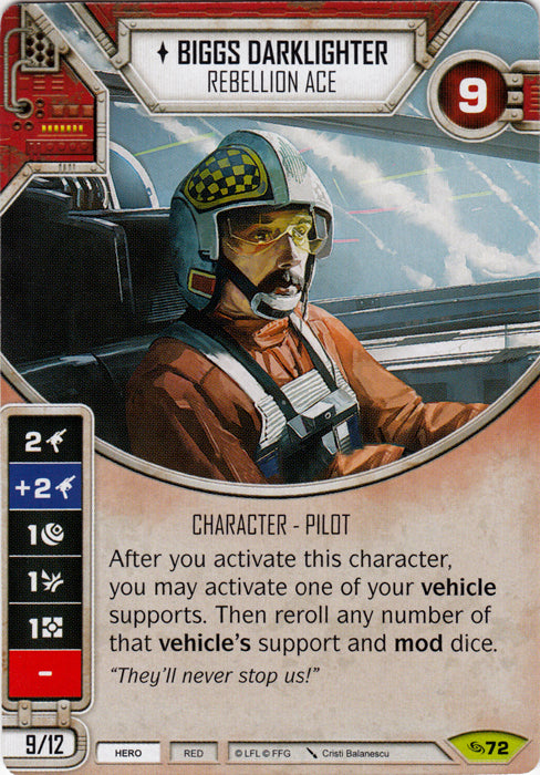 Biggs Darklighter - Rebellion Ace (ATG) Rare