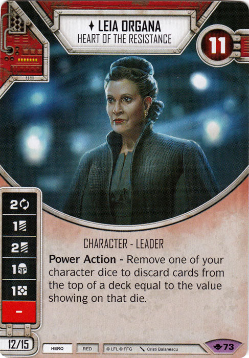 Leia Organa - Heart of the Resistance (WotF) Legendary