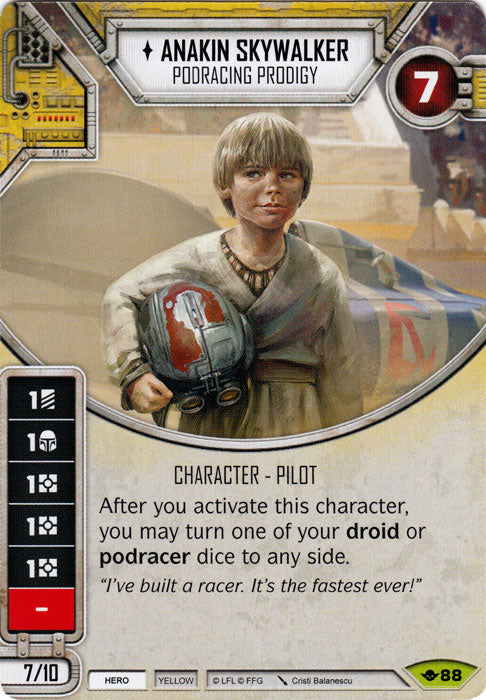 Anakin Skywalker - Podracing Prodigy (WotF) Rare