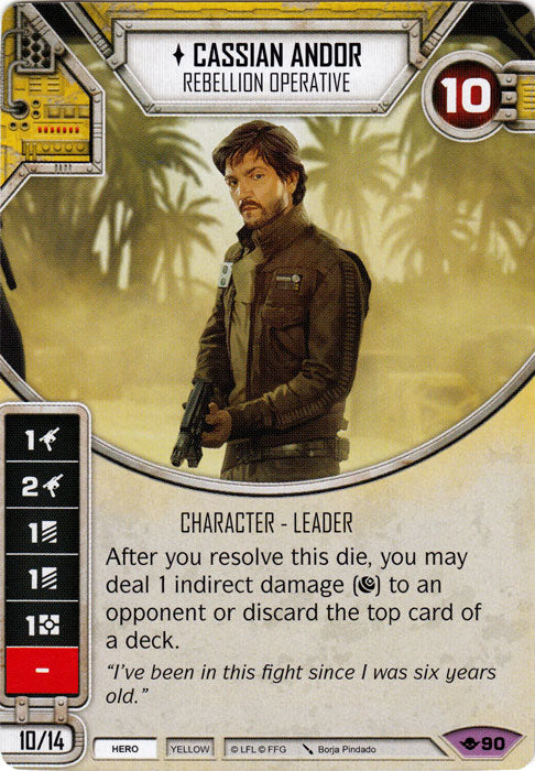 Cassian Andor - Rebellion Operative (WotF) Legendary