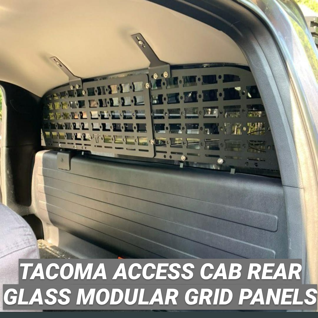 2nd & 3RD (2005-2020) GEN TOYOTA TACOMA ACCESS CAB  REAR WINDOW MODULAR STORAGE PANELS (MSP)