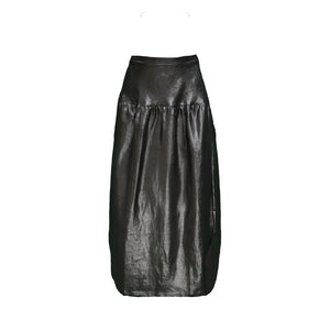 Eliza Skirt / Silver on Black Linen