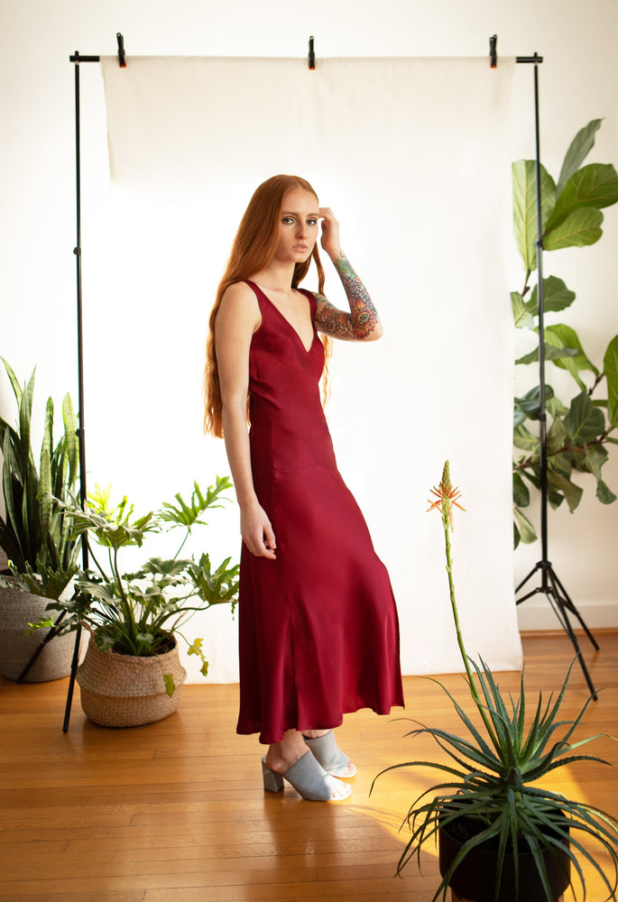 Mae Slip Dress / Scarlet Silk