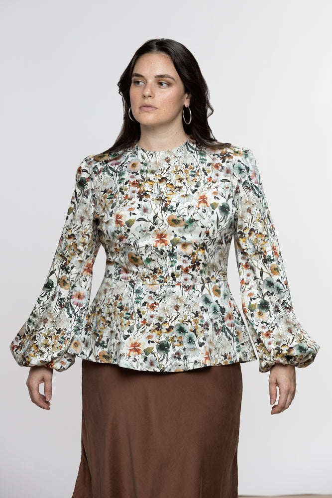Mona Top / Alpine Floral Cotton