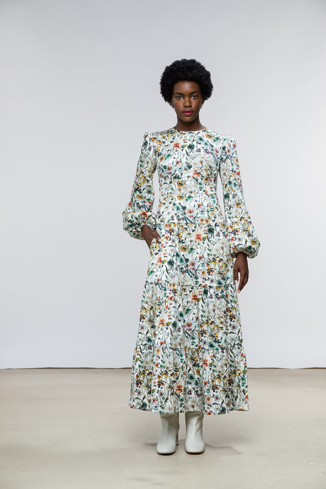 Ann Dress / Alpine Floral Cotton