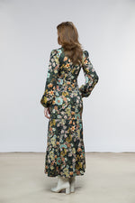 Ann Dress / Dark Forest Floral Cotton