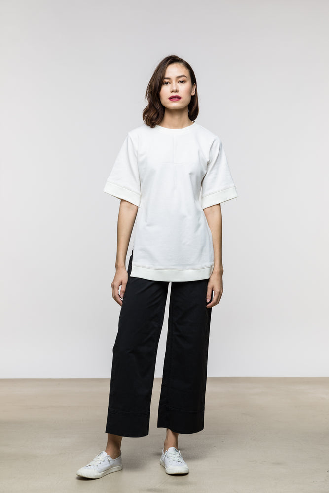 Joan Top / Vintage White Cotton