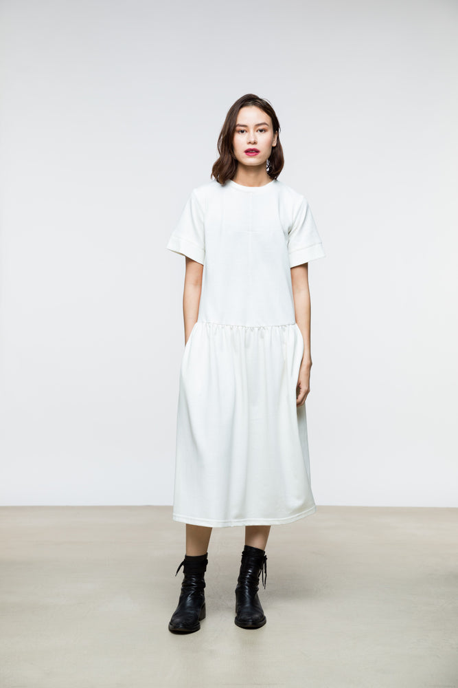 Luca Dress / Vintage White Cotton