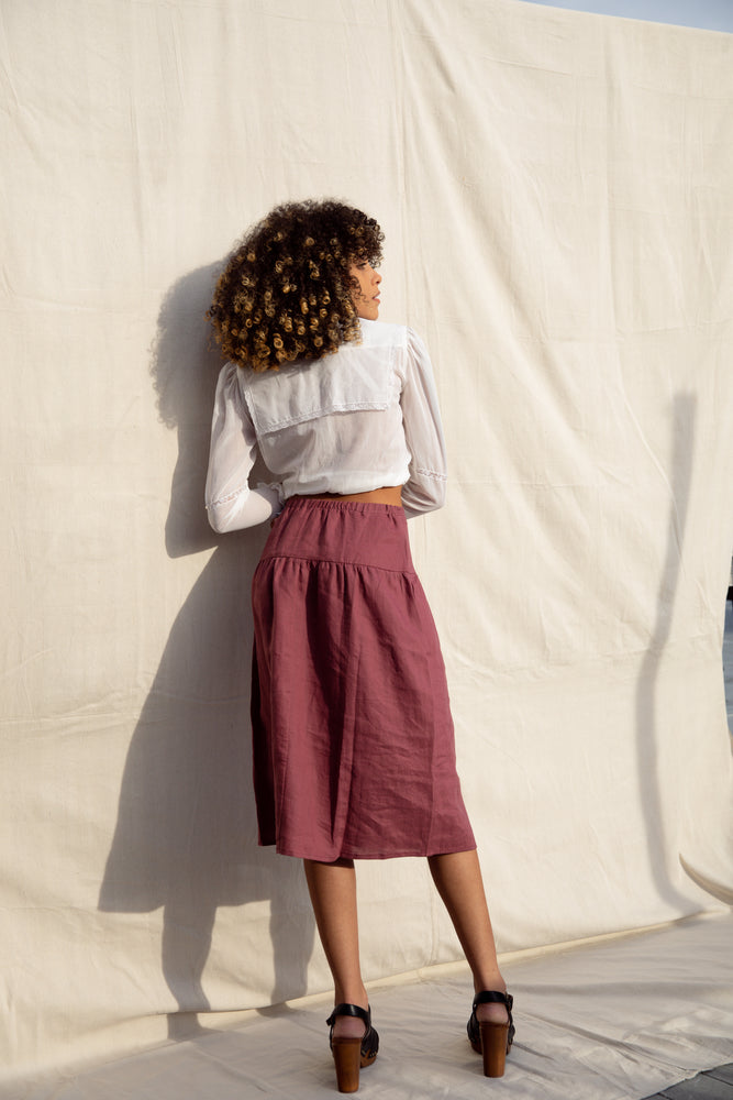Beth Skirt / Terracotta Linen