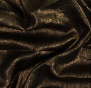 Eliza Skirt / Gold on Black Linen