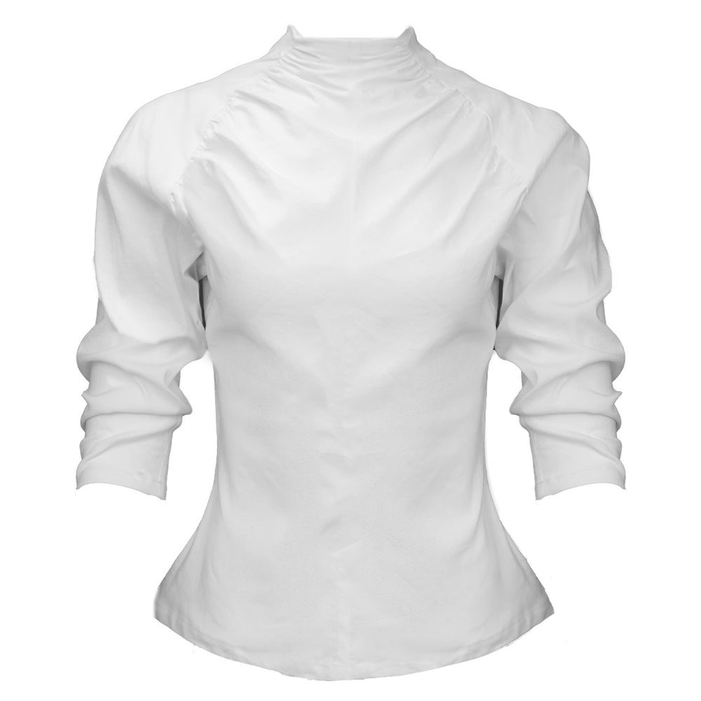 Clare Top / Milky White Stretch Linen