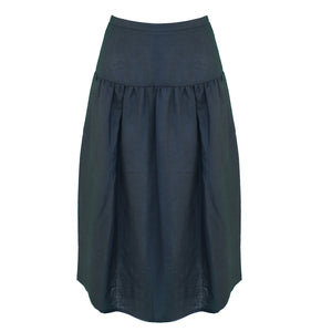Beth Skirt / Black Linen