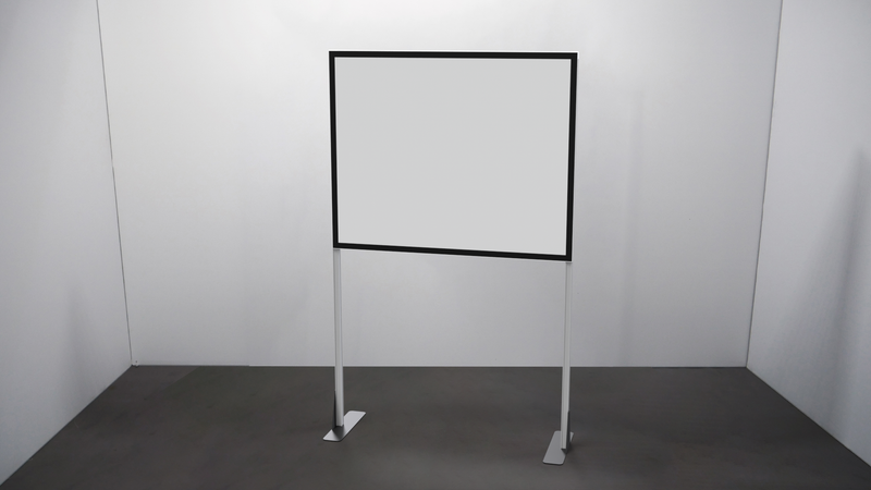 White Foamboard Half Screen