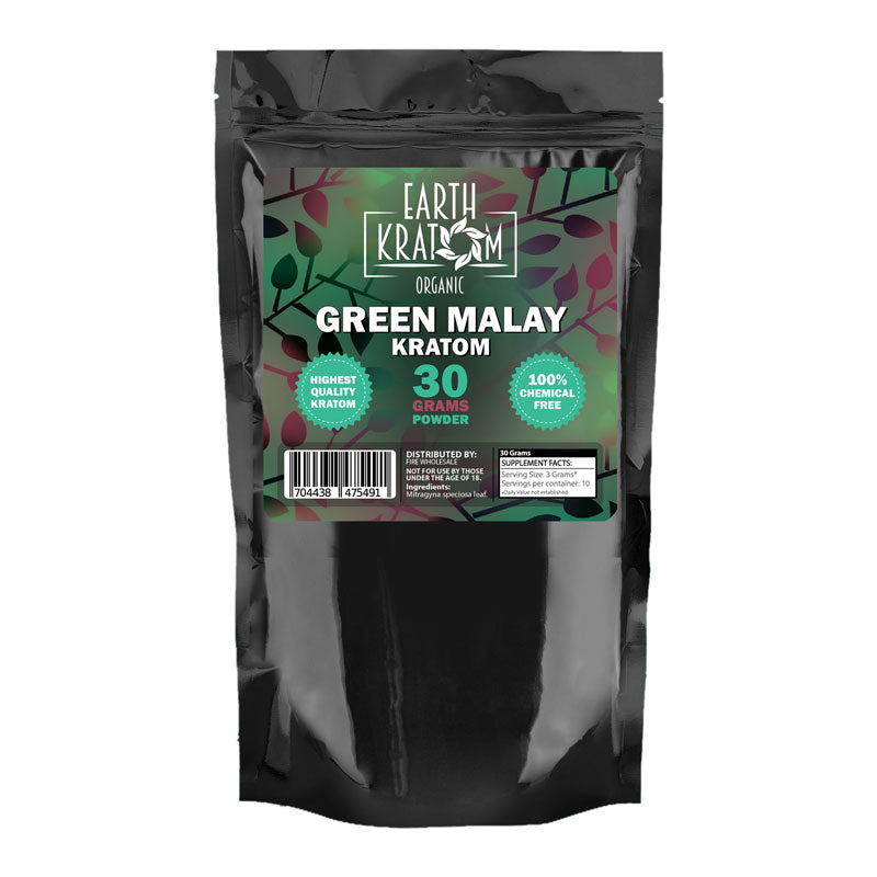 Earth - Kratom Powder Tea Green Malay 30gm For Sale