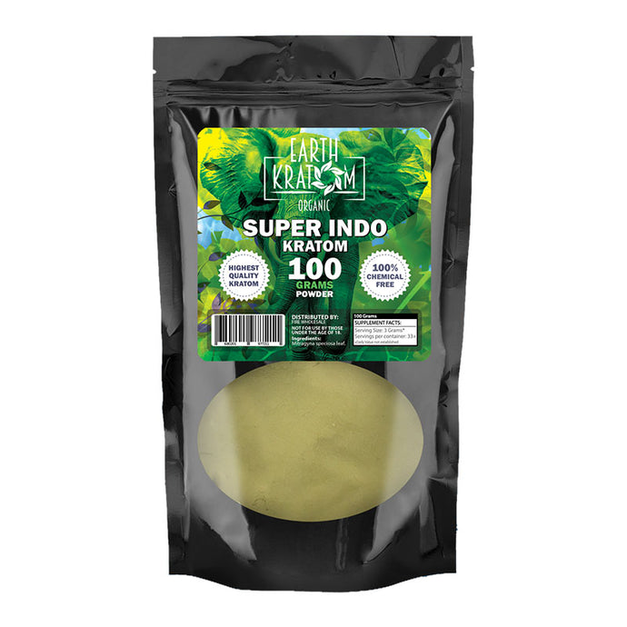 Earth Kratom - Powder Super Indo 100gm