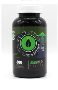 Halo - Kratom Capsule Green Malay 300ct