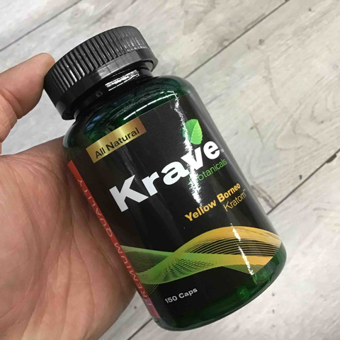 Krave - Kratom Capsule Yellow Borneo For Sale