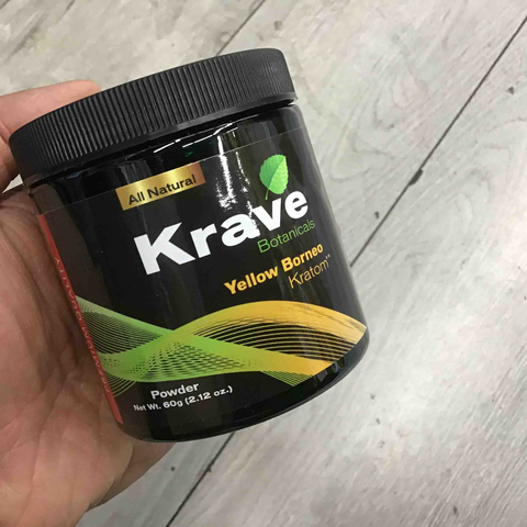 Krave - Kratom Powder Yellow Borneo 60gm for sale