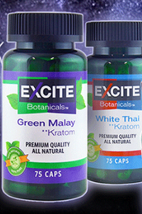 Excite Botanicals - Kratom Capsule Green Malay 75ct