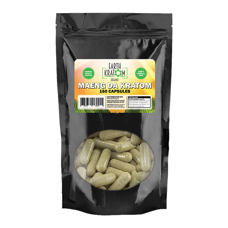 Earth Kratom - Capsule Green Maeng Da 150ct