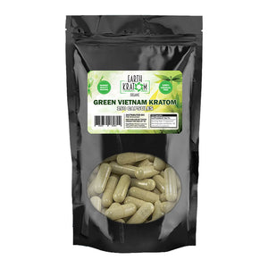 Earth Kratom - Capsule Green Vietnam 150ct