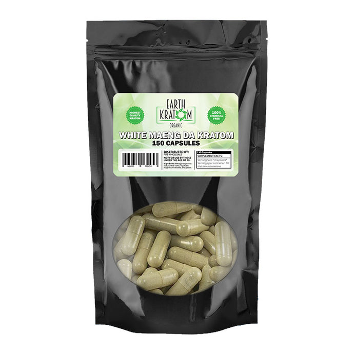 Earth Kratom - Capsule White Maeng Da 150ct